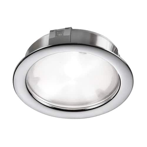 Cree 4W 24VDC input 3000K, CRI80+, 40° beam Puck Light, Polished Chrome