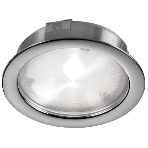 Cree 4W 24VDC input 3000K, CRI80+, 40° beam Puck Light, Satin Chrome