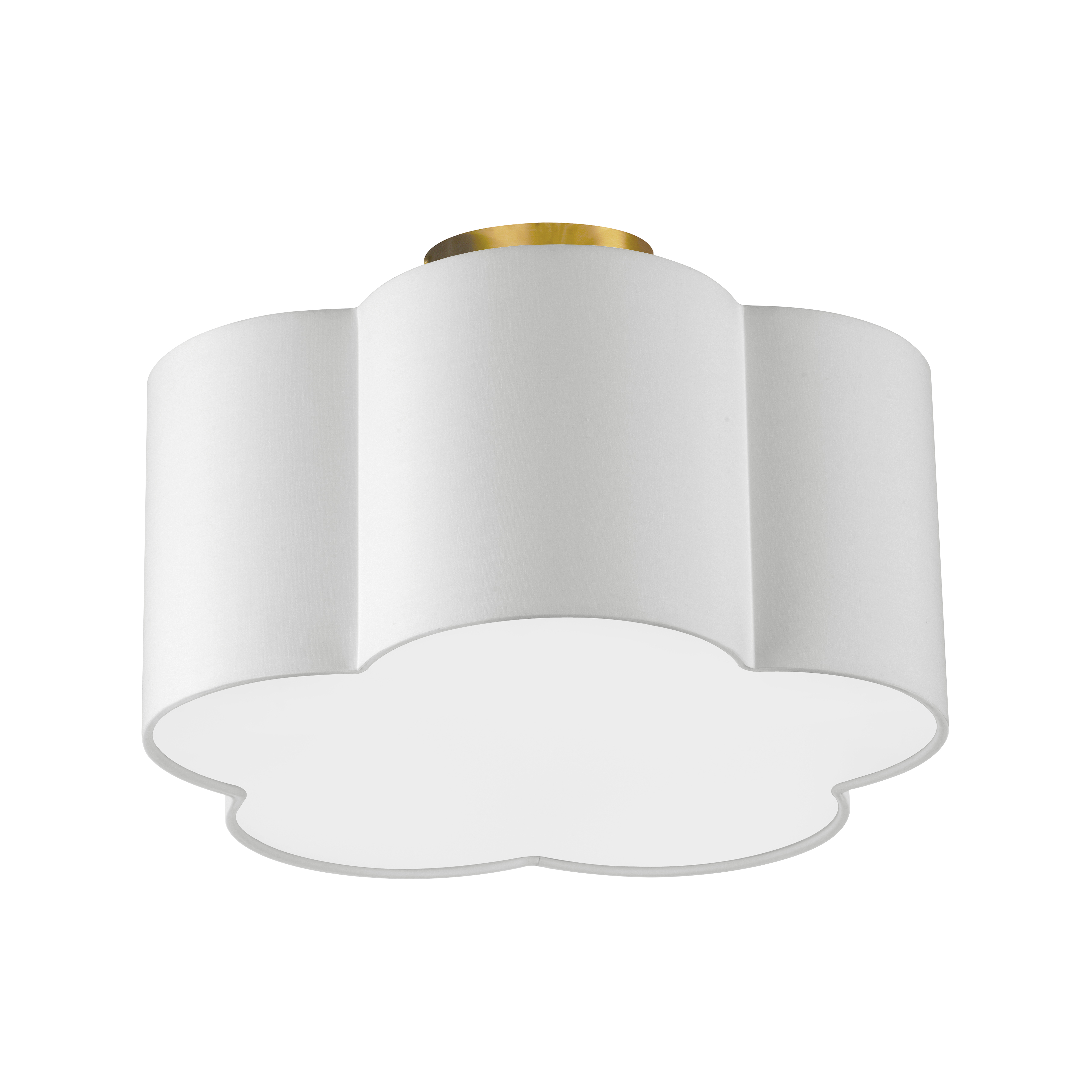 2LT Incandescent Flush Mount, AGB w/ White Shade
