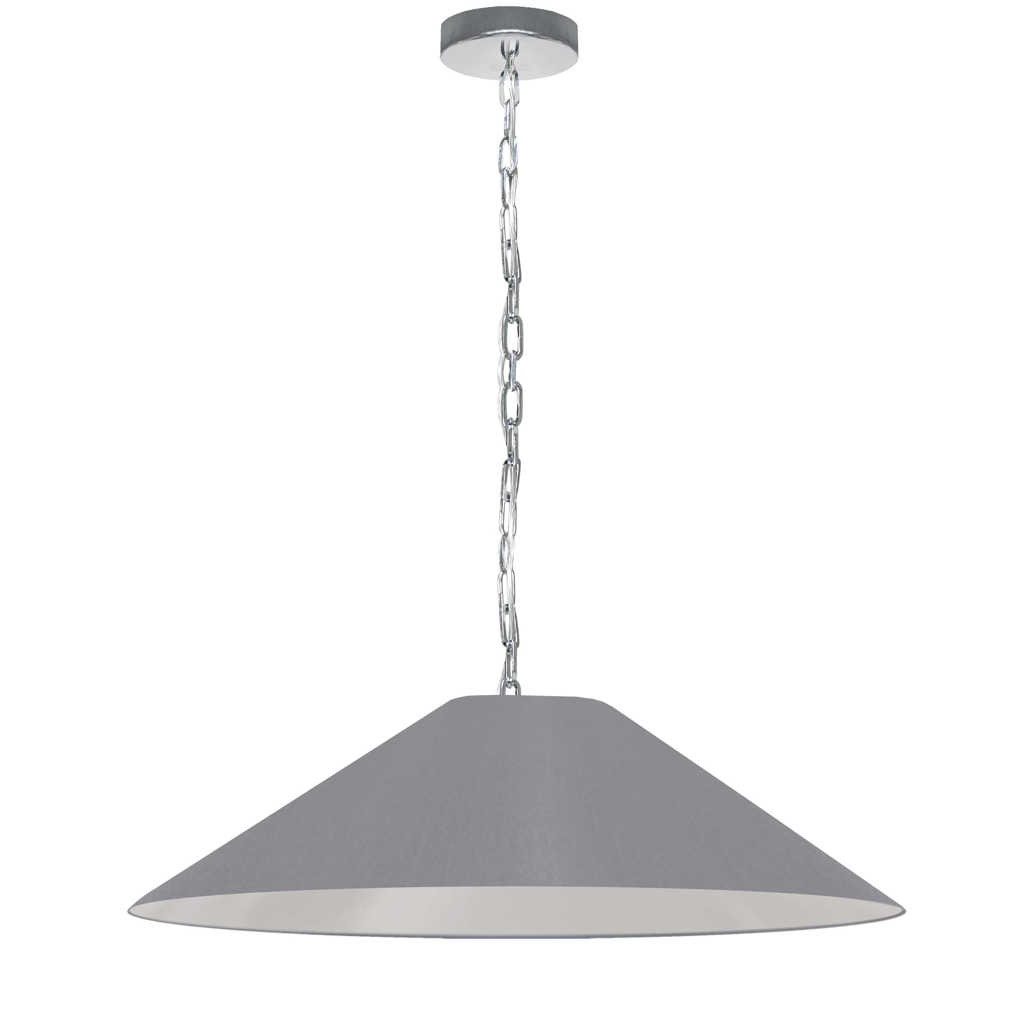 1LT Incandescent Pendant, PC w/ GRY Shade