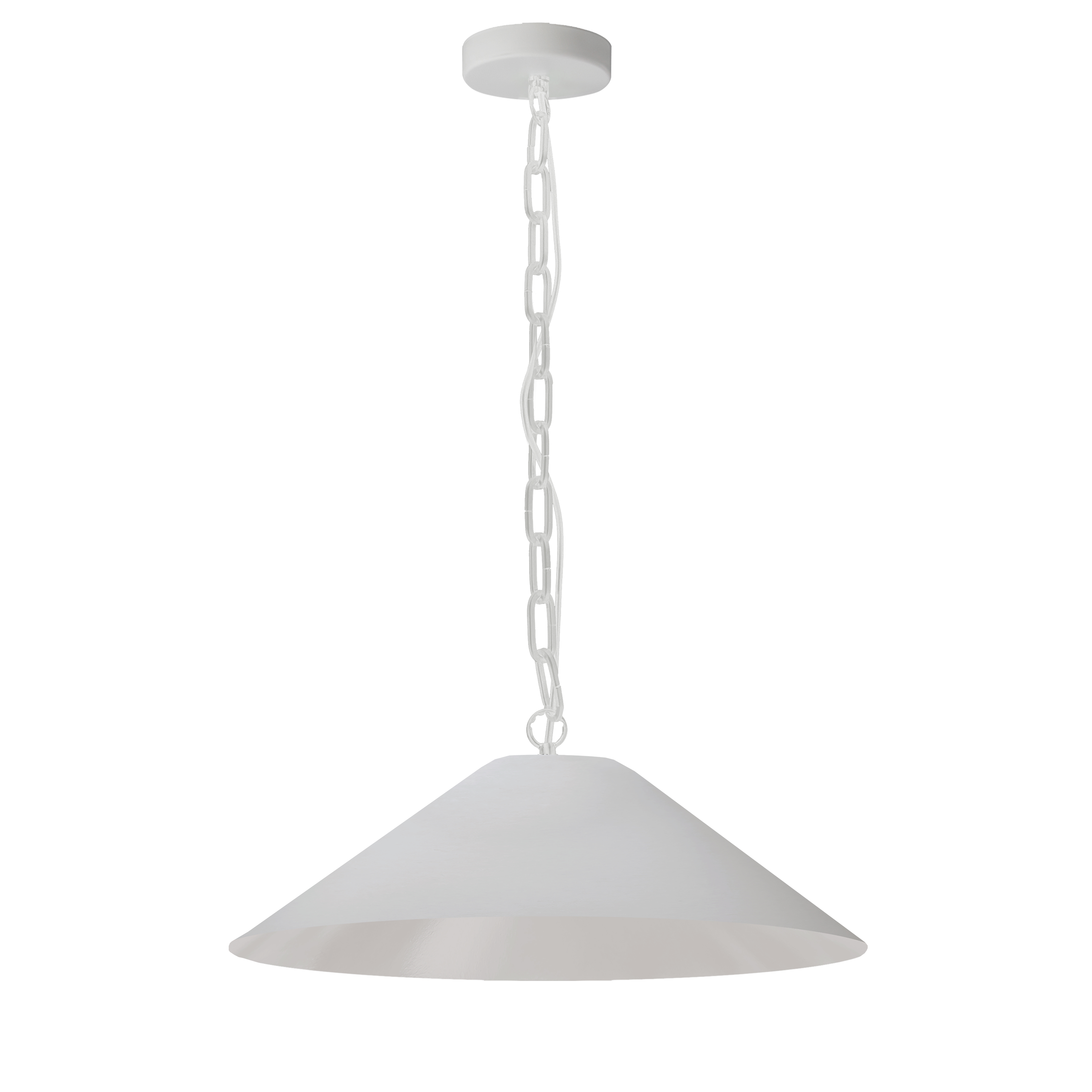 1LT Incandescent Pendant, MW w/ WH Shade