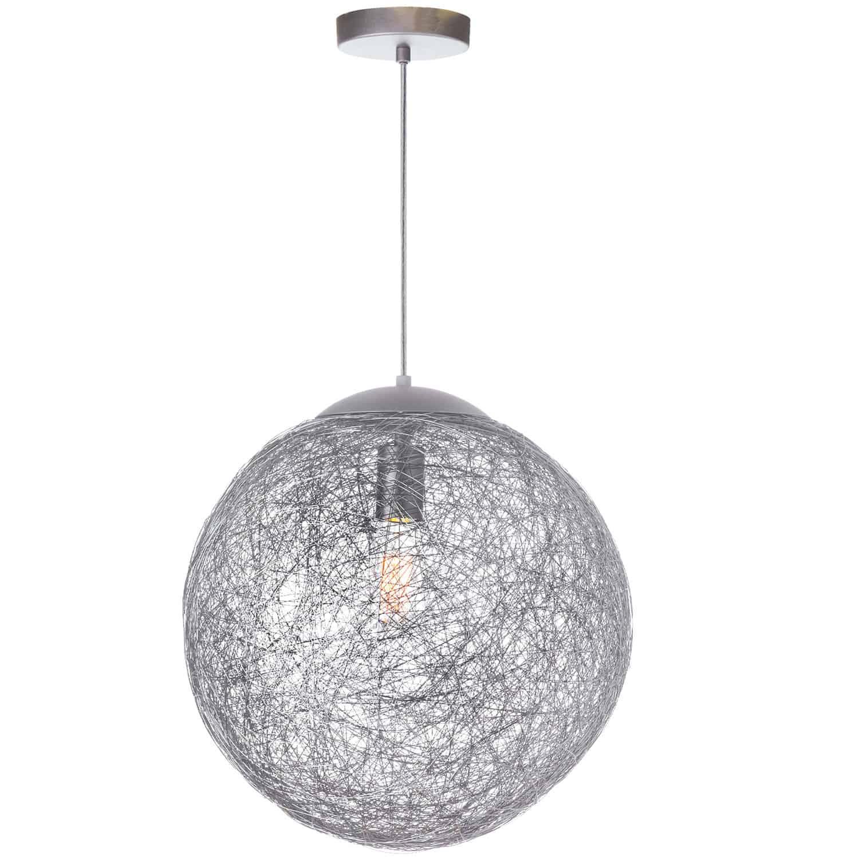 1 Light Incandescent Pendant, Aluminum