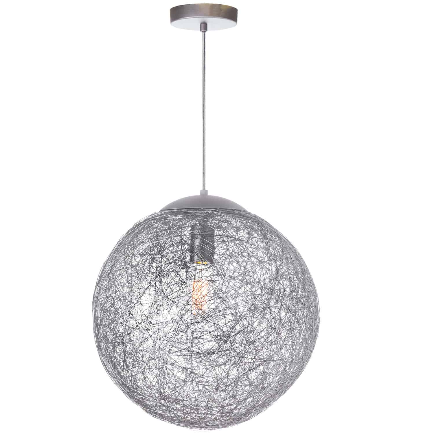 1 Light Incandescent Pendant, Aluminum