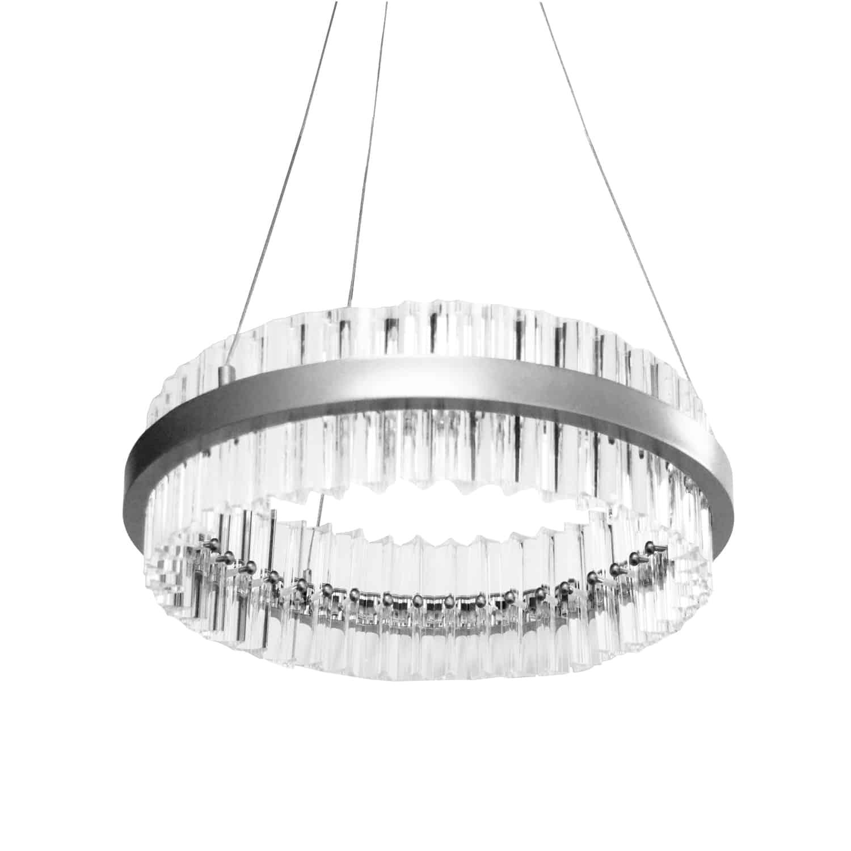 36W LED Chandelier, Polished Chrome Finish