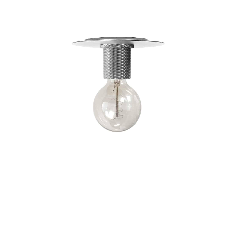 1 Light Incandescent Flush Mount, Satin Chrome