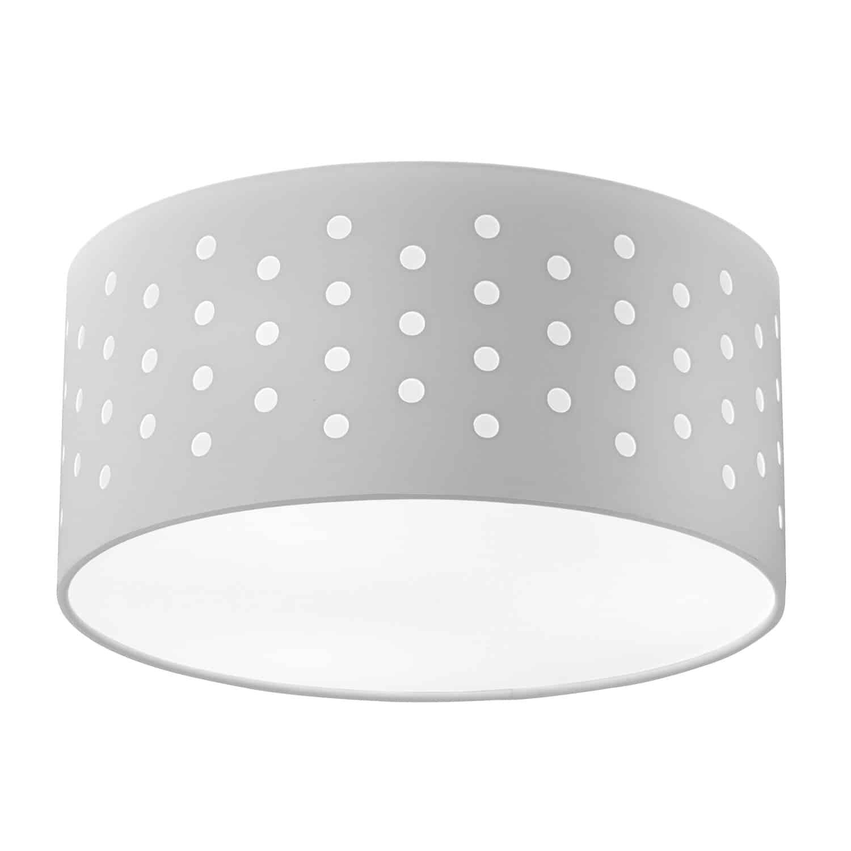 3 Light Sei Flush Drum White/White Shade