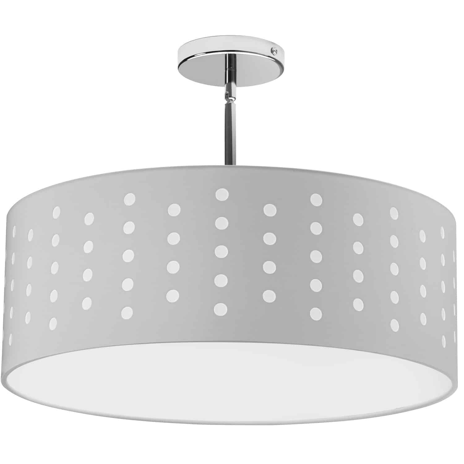 4 Light Pendant Drum White/White Shade