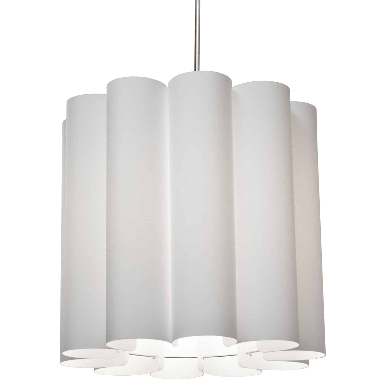 1 Light Sandra Pendant Milano White Polished Chrome