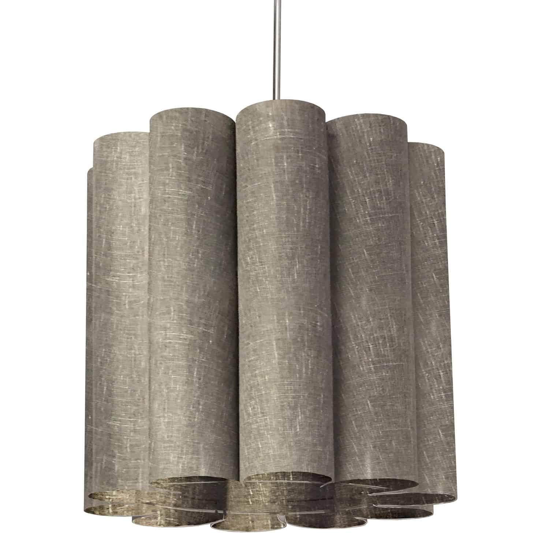 1 Light Sandra Pendant Milano Grey Polished Chrome