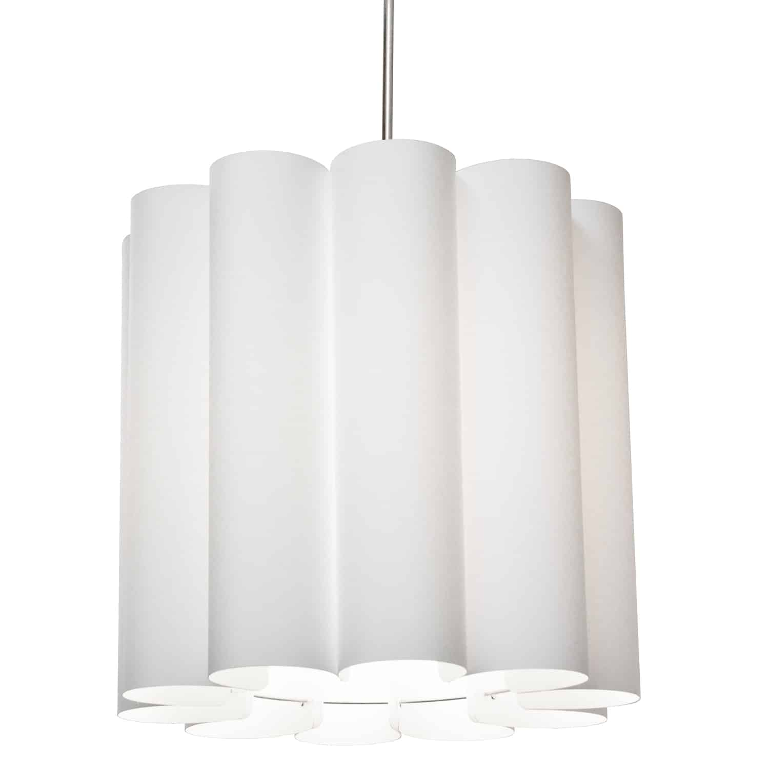 1 Light Sandra Pendant JTone White, Polished Chrome