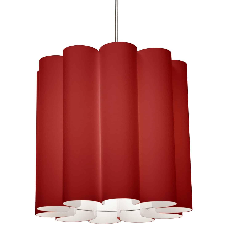 1 Light Sandra Pendant JTone Red, Polished Chrome