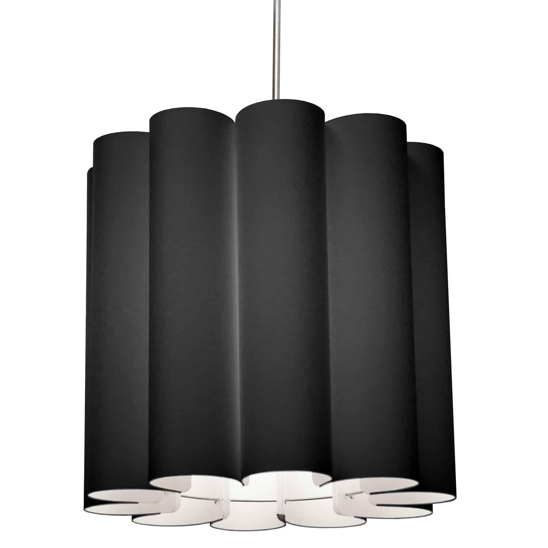 1 Light Sandra Pendant JTone Black, Polished Chrome