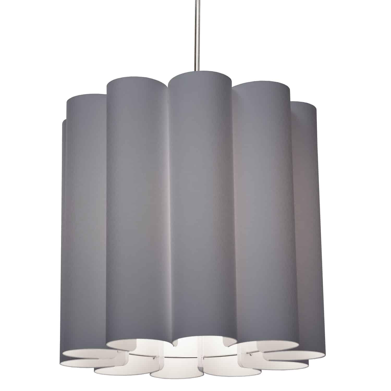 1 Light Sandra Pendant SGlow Grey Polished Chrome