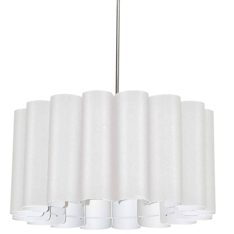4 Light Sandra Pendant Milano White Polished Chrome