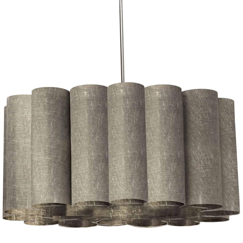 4 Light Sandra Pendant Milano Grey Polished Chrome