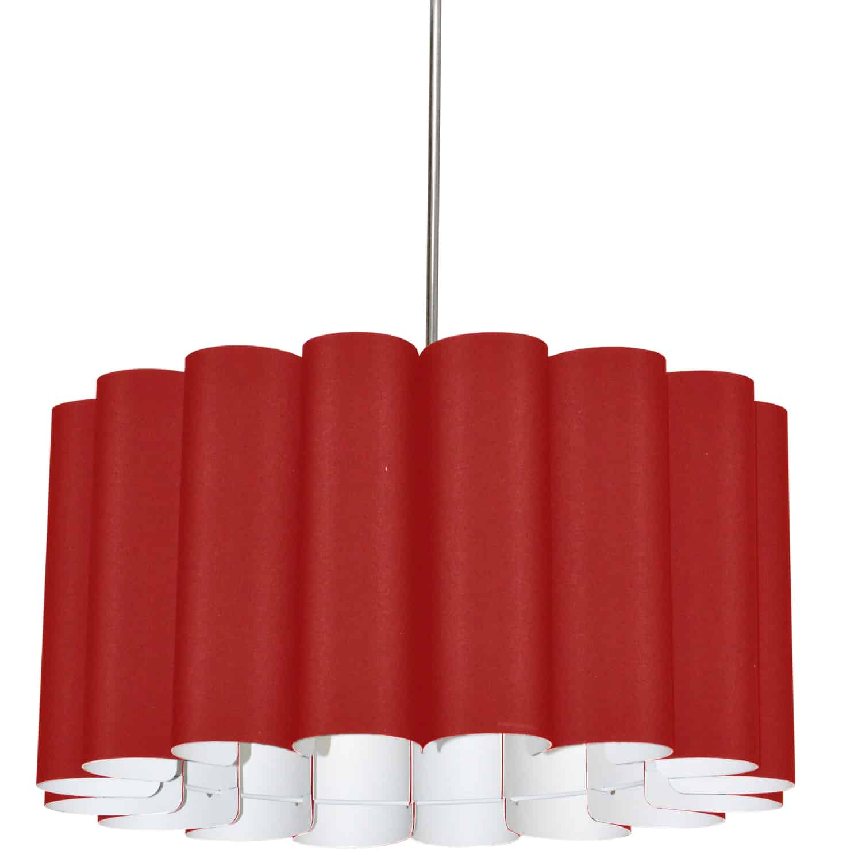 4 Light Sandra Pendant JTone Red Polished Chrome