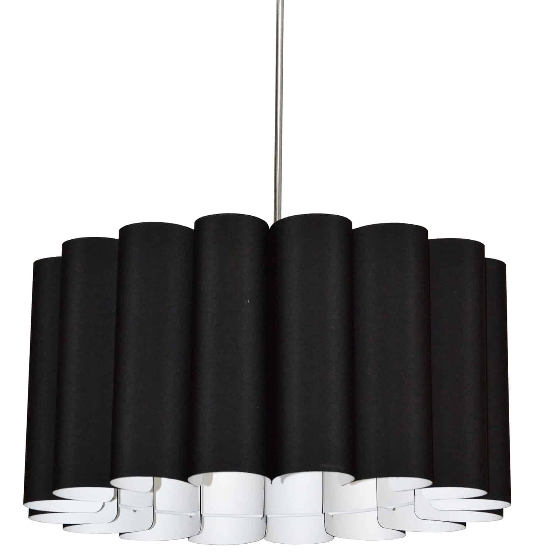 4 Light Sandra Pendant JTone Black Polished Chrome