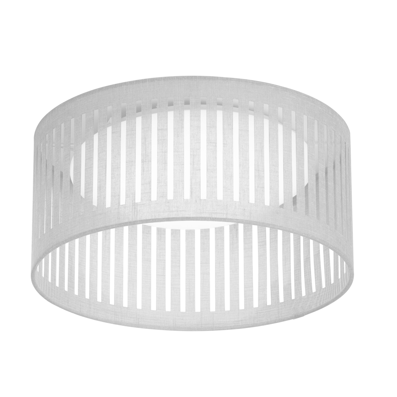 LED Flush Mount, Slit Drum Shade, White