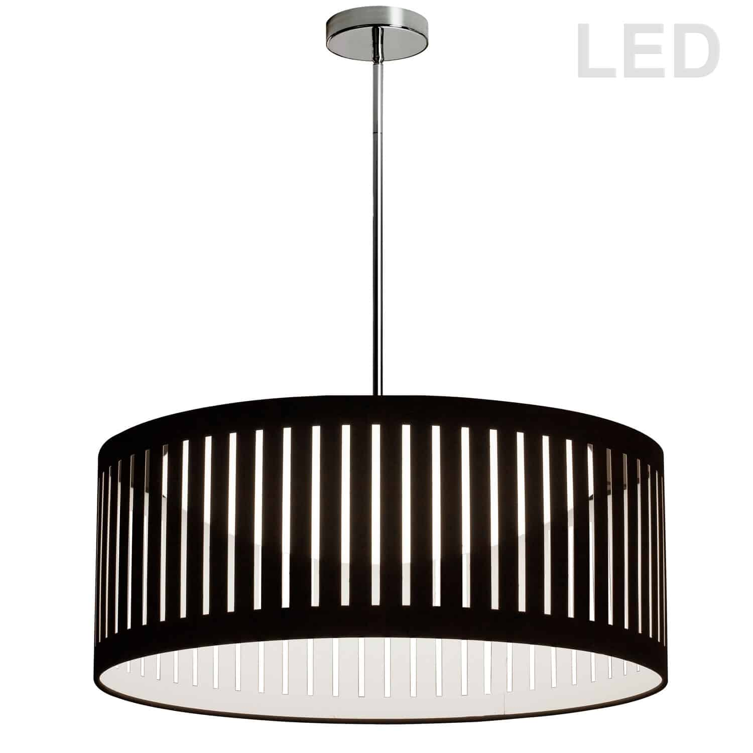 LED Slit Drum Shade, Black