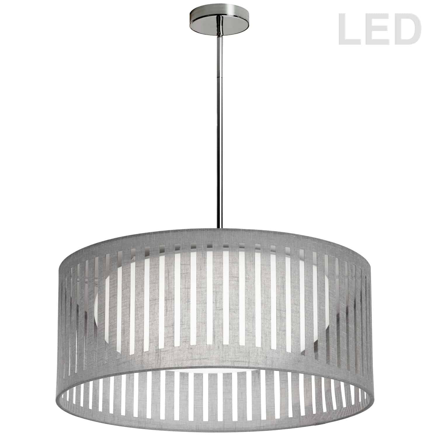 LED Slit Drum Shade, Grey