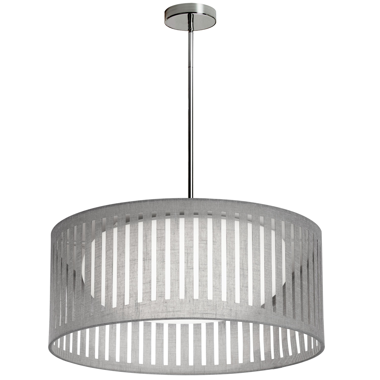 LED Slit Drum Shade, Grey