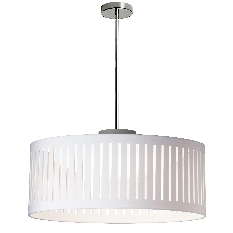 LED Slit Drum Shade, White