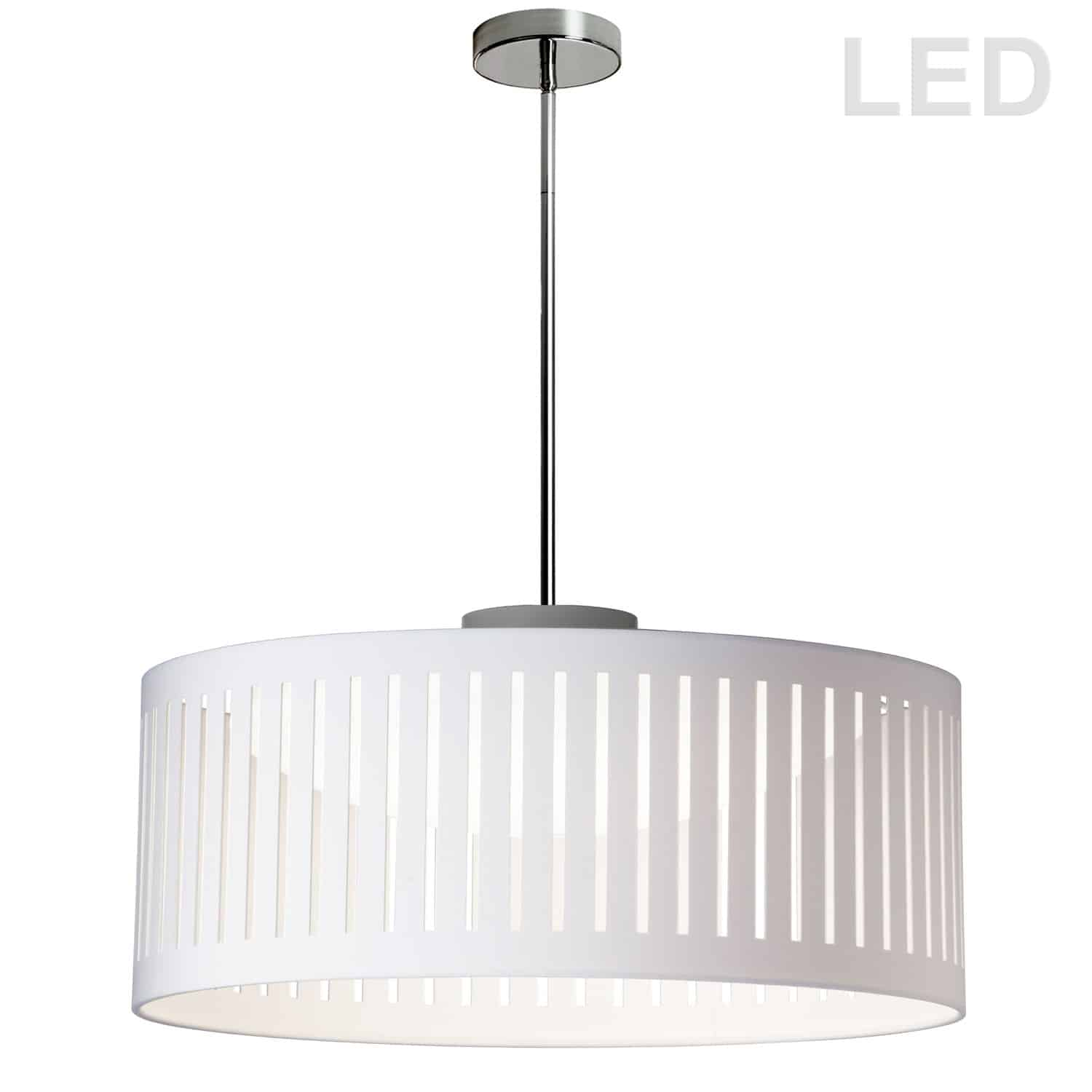 LED Slit Drum Shade, White