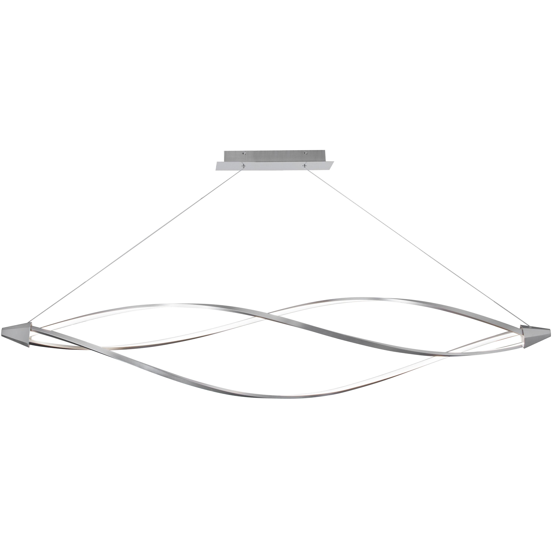 53W LED Horizontal Pendant, Satin Chrome Finish