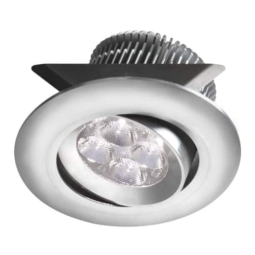 """Aluminum 2x4W 3000K, CRI80+, 25° beam, 24VDC input with Male Connector, 18"""" Lead wire, D84xH50 mm, Dimmable.±25° Adjustable tilt angle."""
