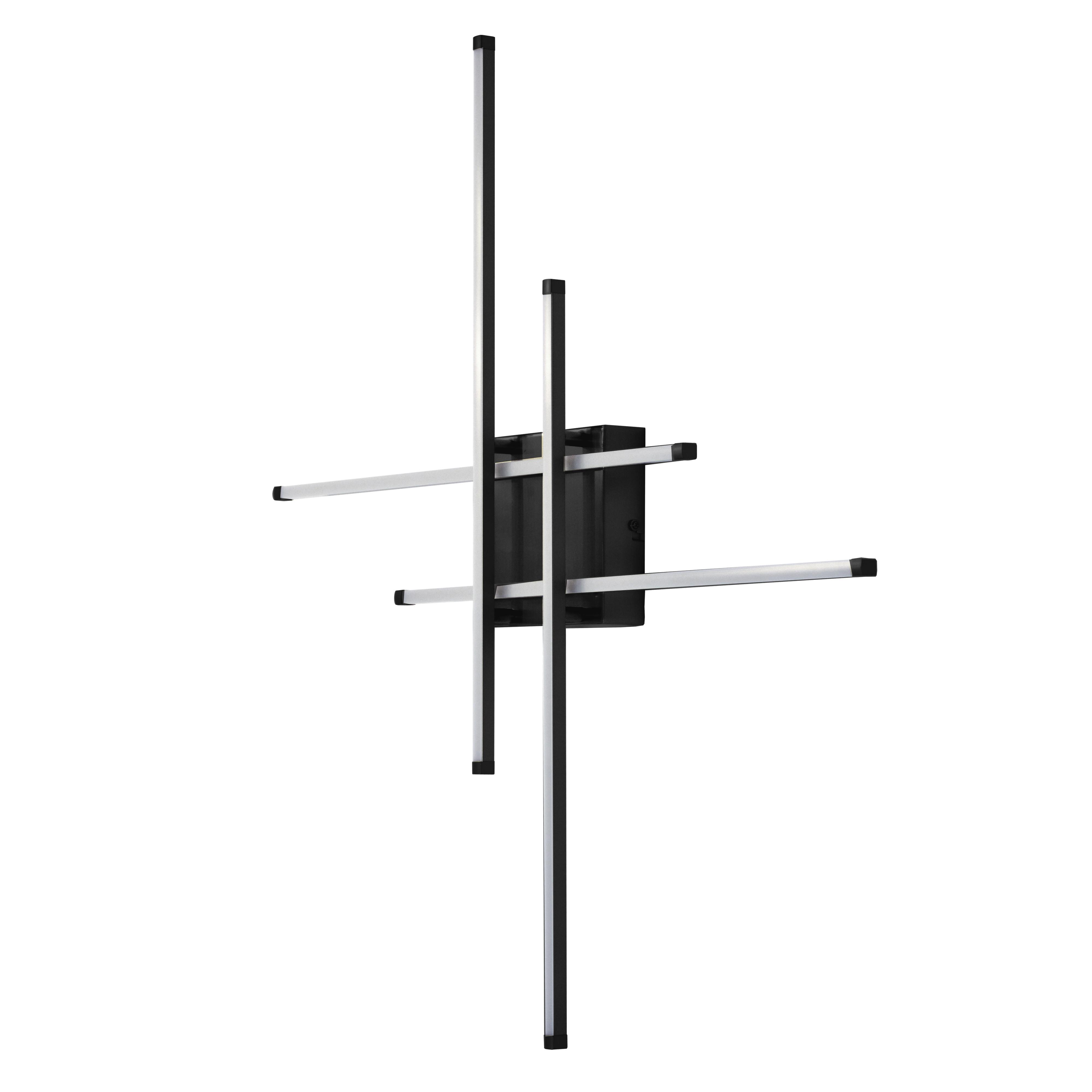23 Watt LED Flushmount Matte Black w/White Acrylic Diffuser