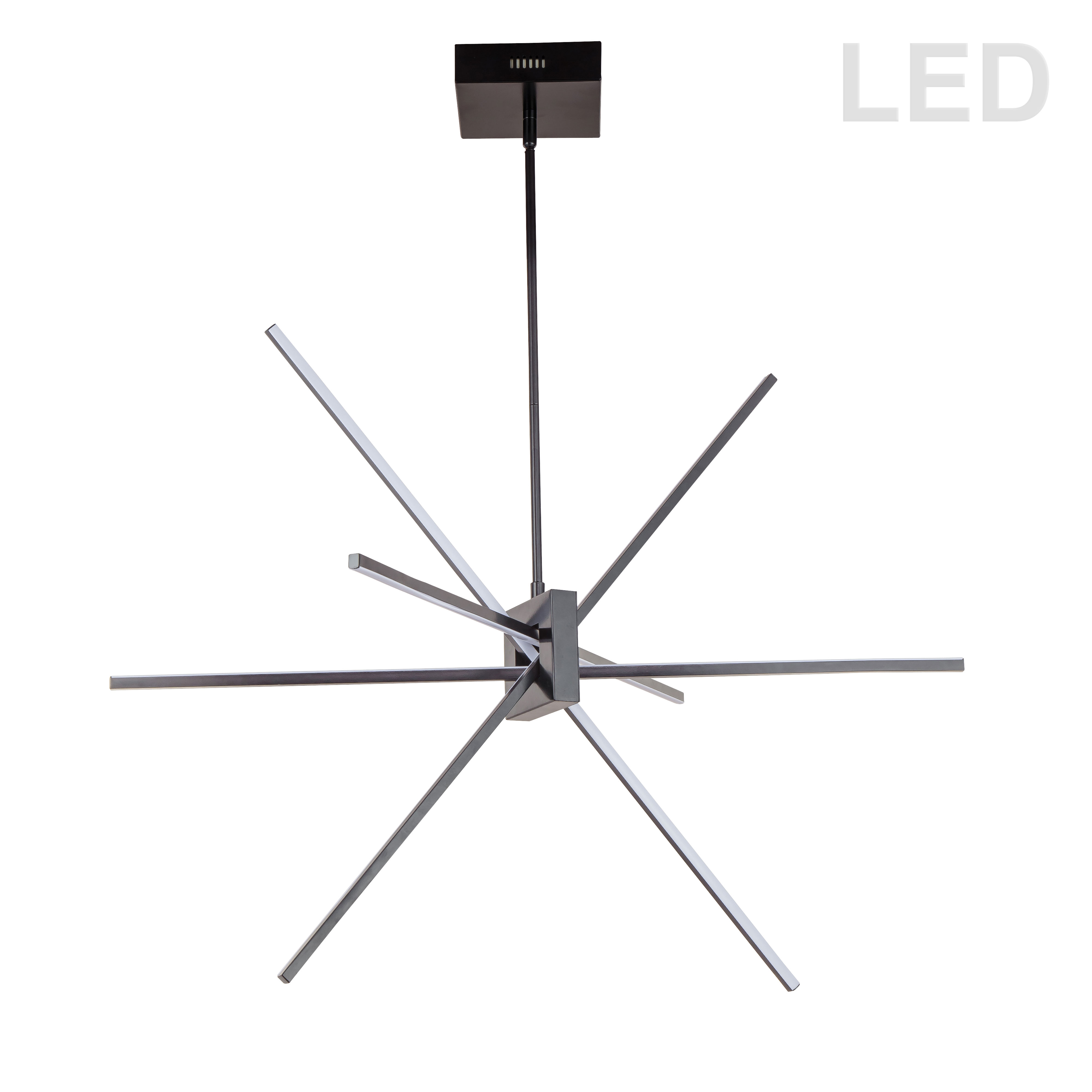 46W LED Pendant Matte Black with White Acrylic Diffuser