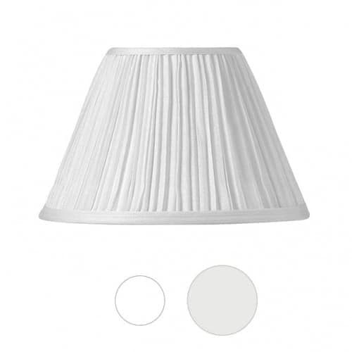 "<div class=""page"" title=""Page 6""> <div class=""section""> <div class=""layoutArea""> <div class=""column"">  Shirred pleat tapered hardback shades with self-trim (trim same material as shade). 3-way washer, flame clip or plain clip (as indicated).  </div> </div> </div> </div>"