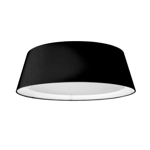 LED Flush Mount, Tapered Drum Shade, Black