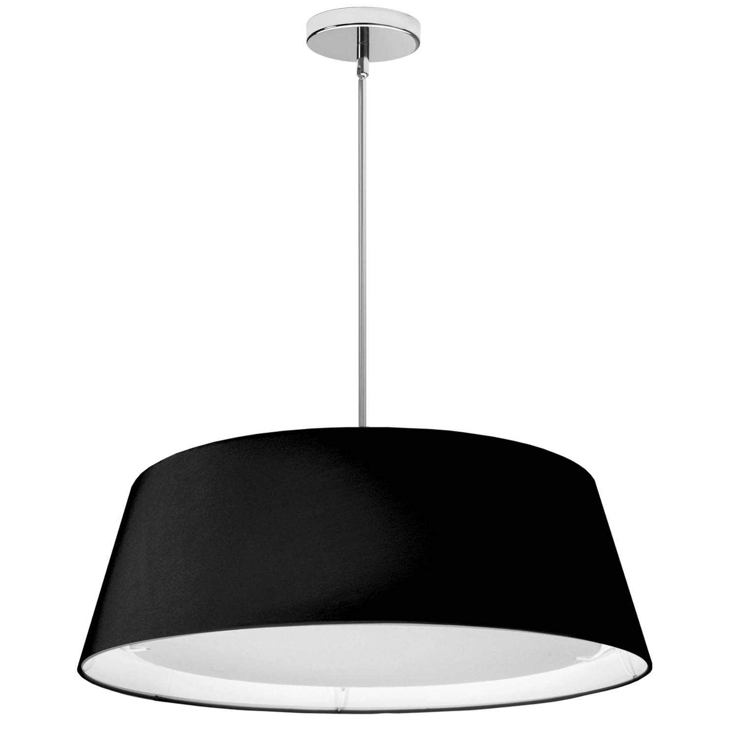 LED Tapered Drum Shade, Black