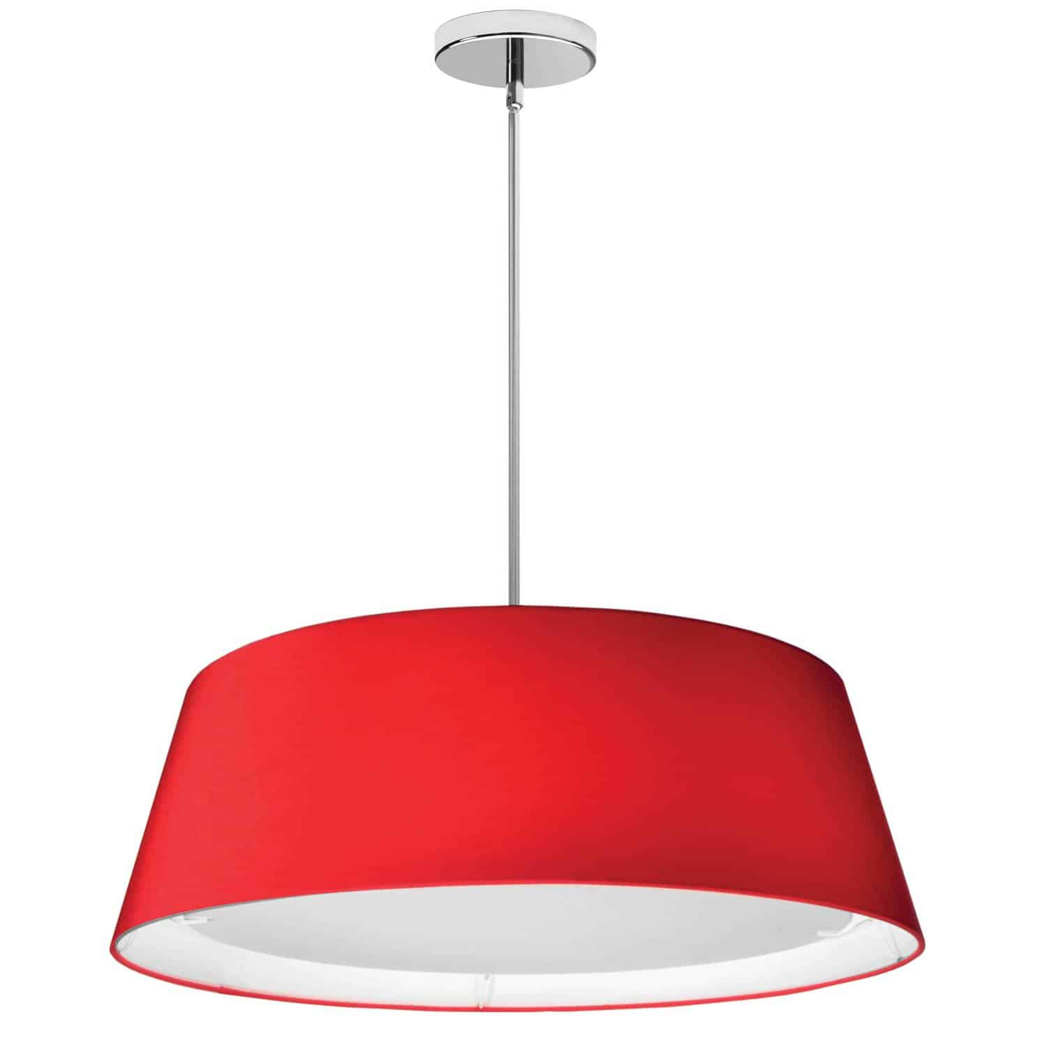 LED Tapered Drum Shade, Red