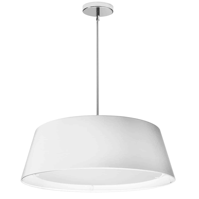 LED Tapered Drum Shade, White