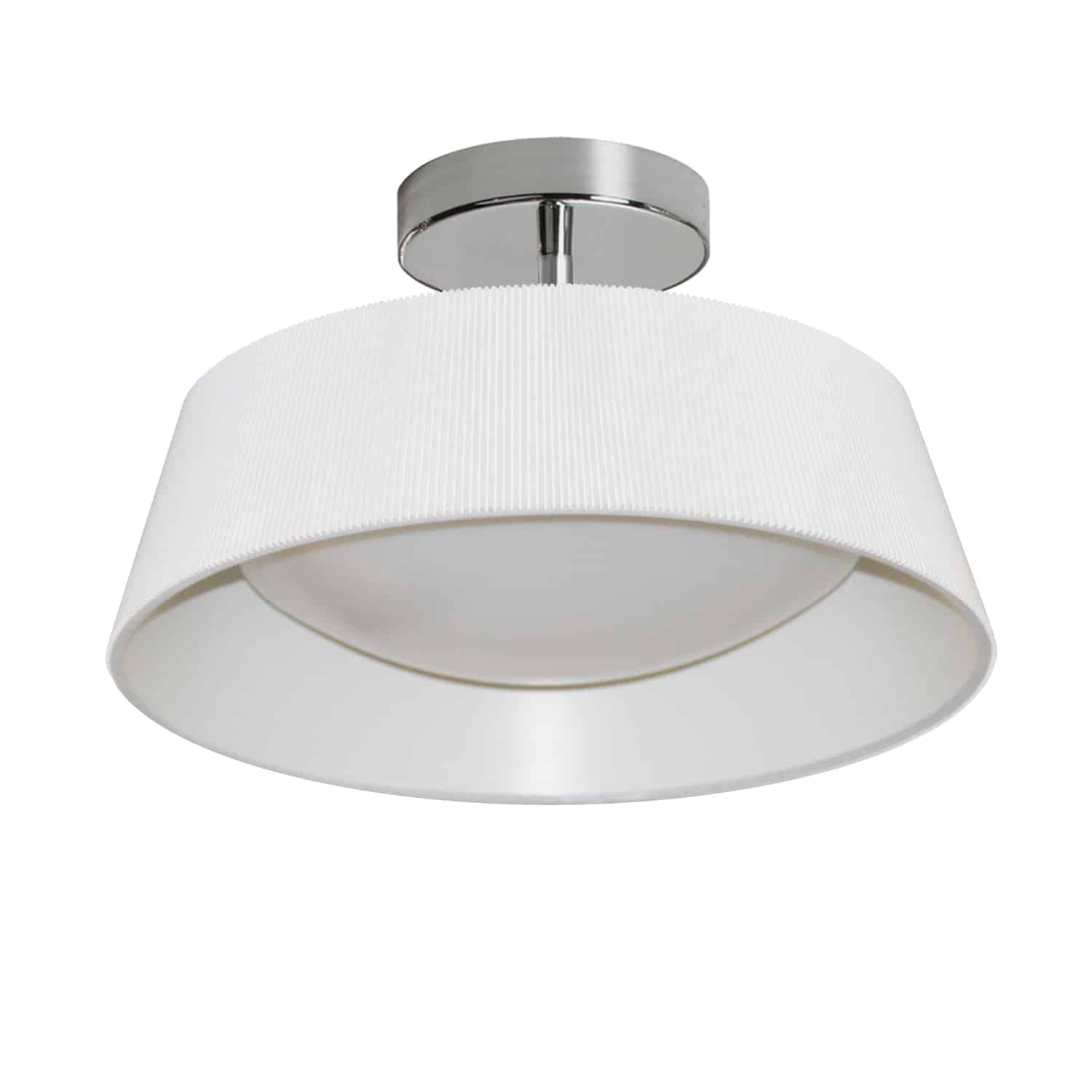 14W Thea Flush Mount with White Shade