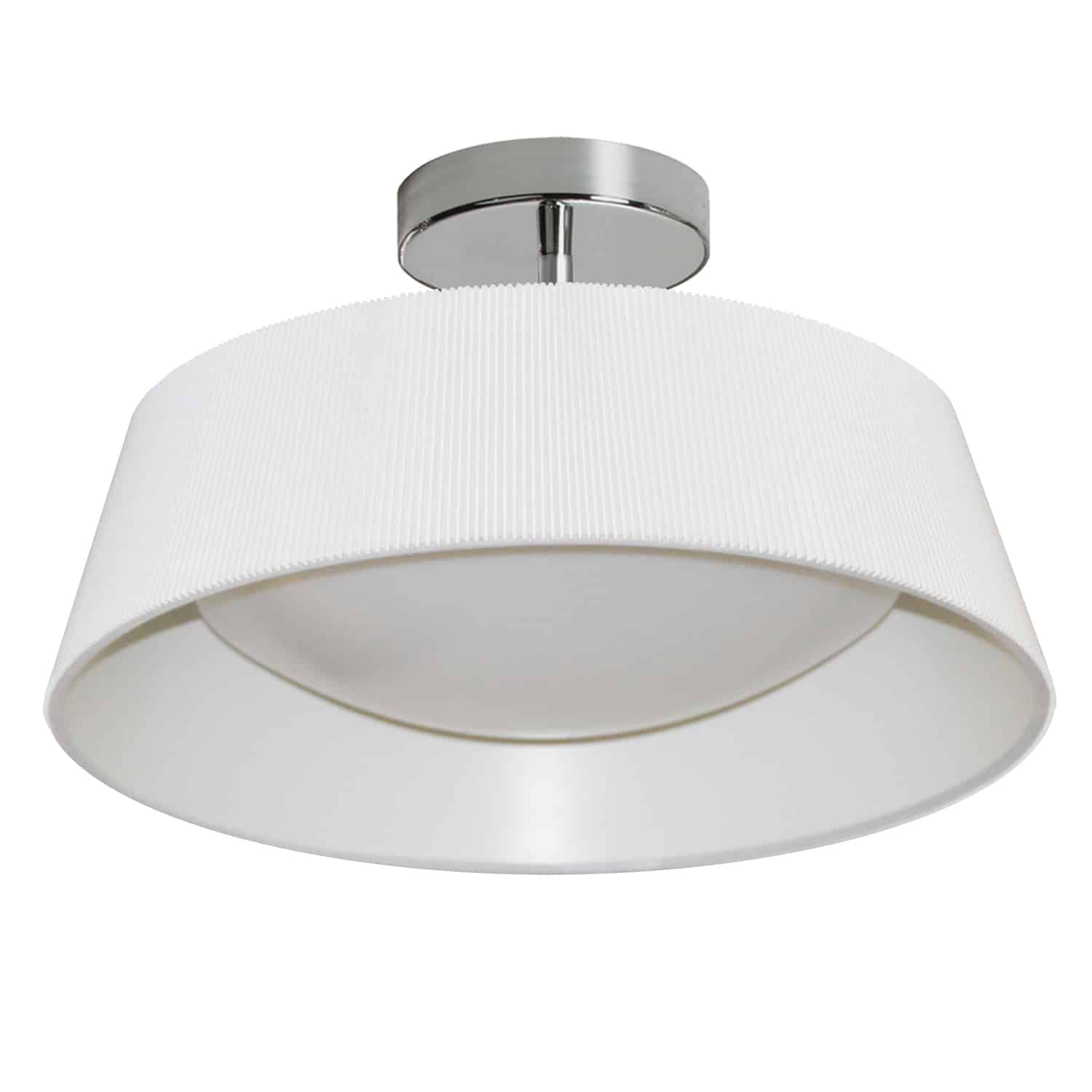 22W Thea Flush Mount with White Shade