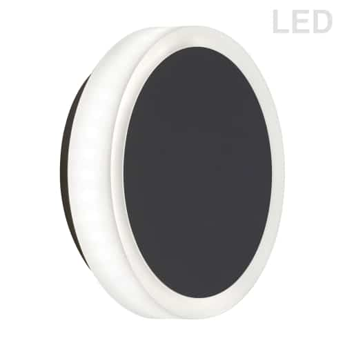 12W Matte Black Wall Sconce w/ Frosted Acrylic Diffuser