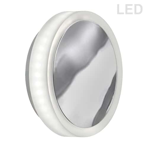 12W Polished Chrome Wall Sconce w/ Frosted Acrylic Diffuser