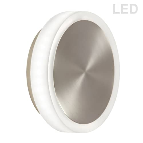 12W Satin Chrome Wall Sconce w/ Frosted Acrylic Diffuser