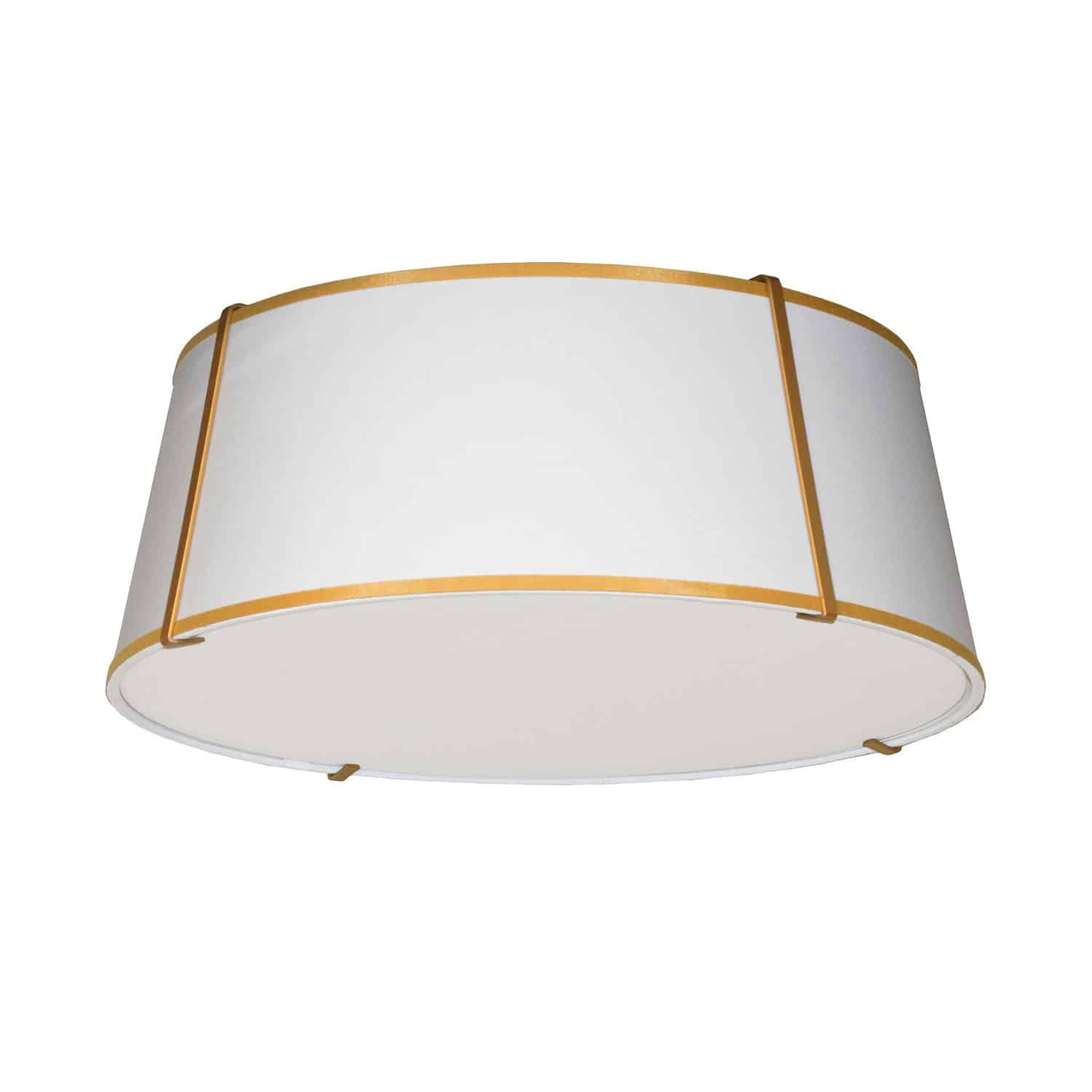 4LT Trapezoid Flushmount Gold/WH Shade w/ 790 Diff