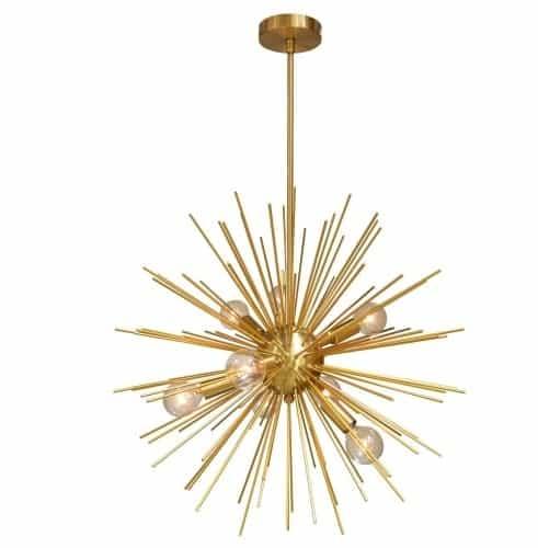 8 Light Pendant, Gold / Vintage Bronze Finish
