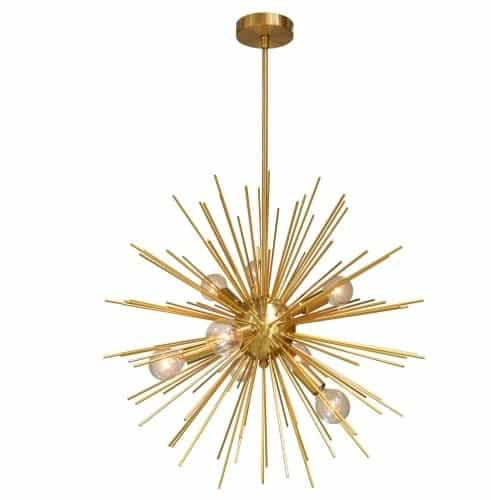 8 Light Pendant, Gold / Vintage Bronze Finish