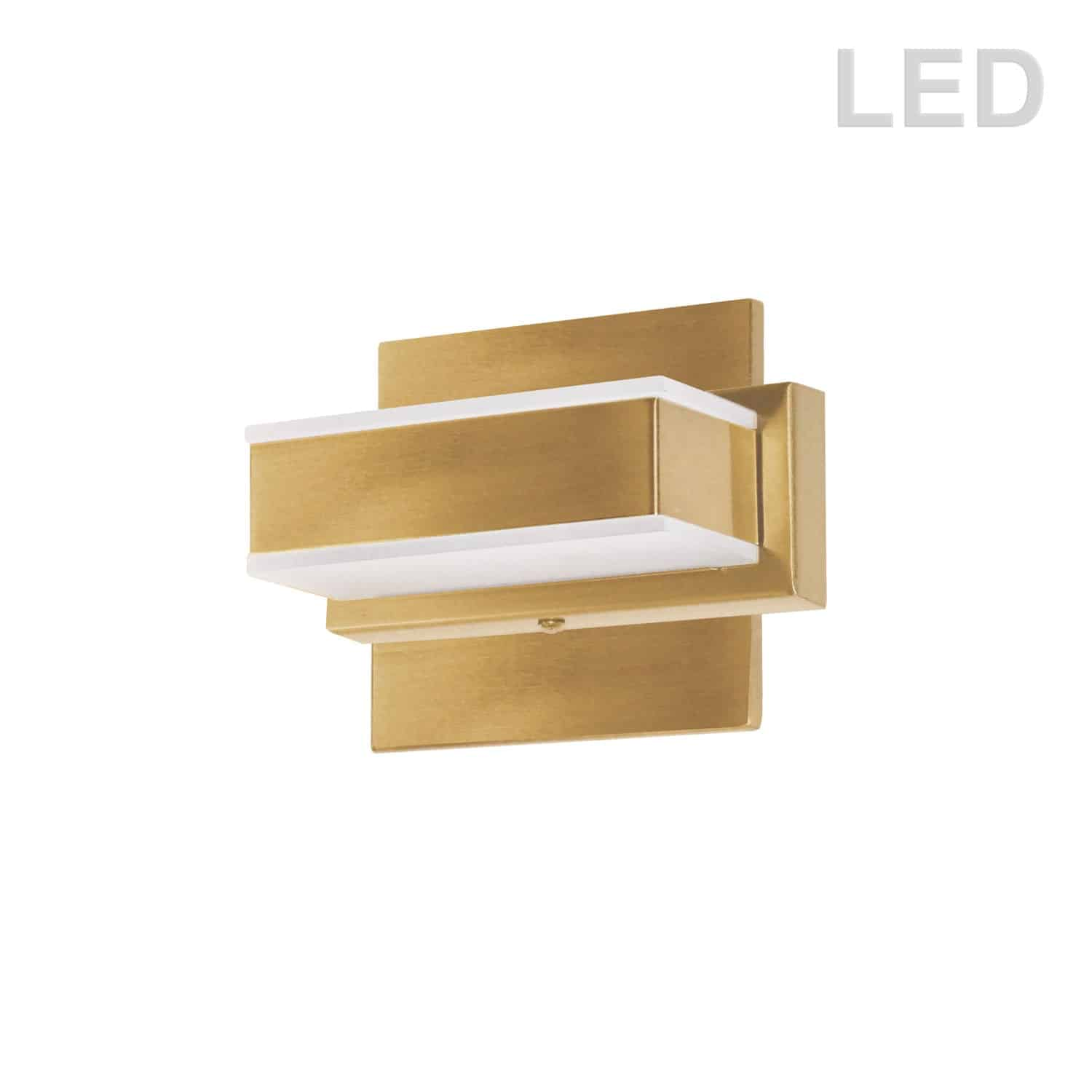 1 Light LED Wall Vanity Gold Finish