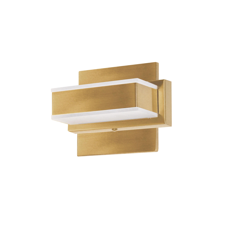 1 Light LED Wall Vanity Gold Finish