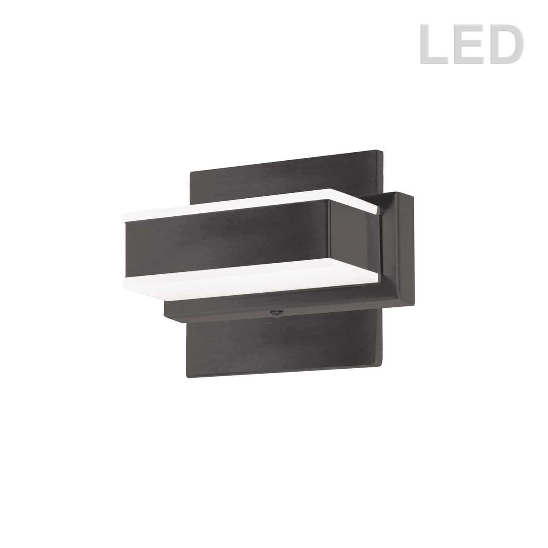 1 Light LED Wall Vanity, Matte Black Finish
