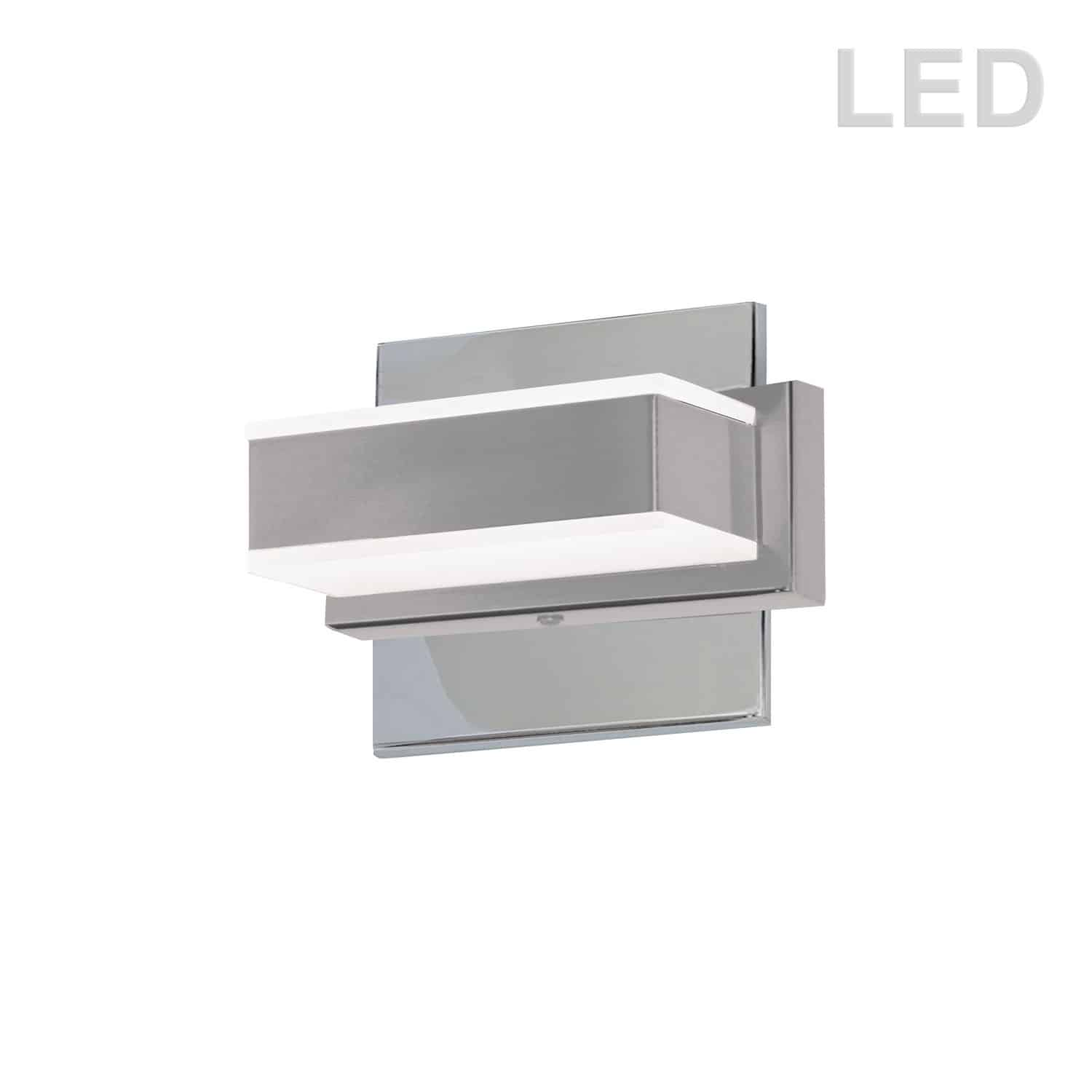 1 Light LED Wall Vanity, Polished Chrome Finish