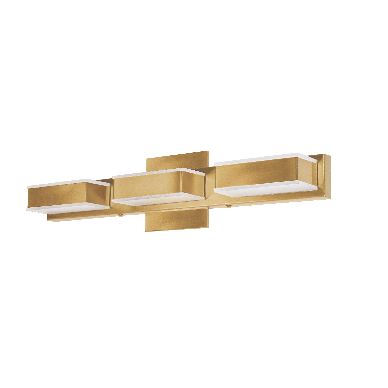3 Light LED Wall Vanity Gold Finish