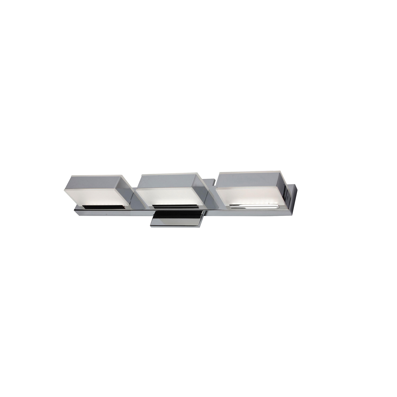 3 Light LED Wall Vanity, Polished Chrome Finish